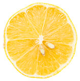 Perfect Sliced Lemon With Two Sectioned Seeds Royalty Free Stock Image
