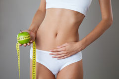 Perfect Slim Body. Diet Royalty Free Stock Photos