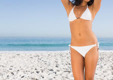 Perfect slim body of attractive young woman Royalty Free Stock Images