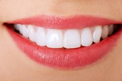 Perfect smile. Close up of a perfect smile Stock Images