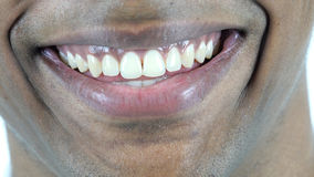 Perfect Smiling Lips of Afro-American Man. Perfect Smiling Lips of Black Man, high quality Royalty Free Stock Images