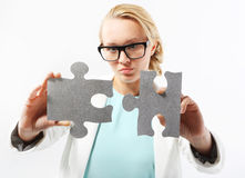 Perfect solution - creative thinking Stock Photo