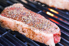 Perfect steak on the BBQ Stock Images