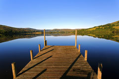 Perfect and still lake reflecting the Yorkshire Dales. Stock Image