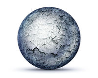 Perfect stone sphere on white Stock Images