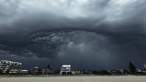 Perfect Storm. A cataclysmic storm threatening to engulf everything in its path Stock Photography