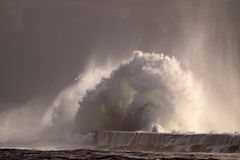 Perfect storm, the wave Royalty Free Stock Photography