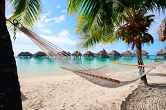 Perfect strand op Moorea Royalty-vrije Stock Afbeeldingen
