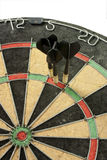 A perfect success. Concept of having business success by throwing darts Stock Photography