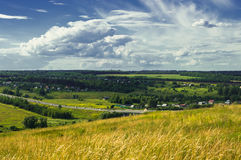 Perfect summer day in village Stock Photography