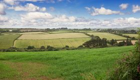 Perfect sunny spring English landscape. Perfect idillic sunny spring English fields landscape Royalty Free Stock Photo