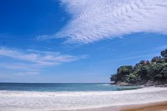 Perfect weather at Laem Singh beach in Phuket, Thailand stock image