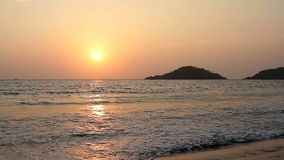 Perfect Sunset on the Beach stock footage