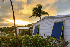 Perfect sunset and beach shack Stock Images