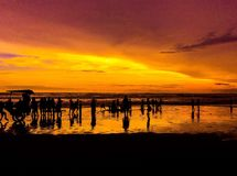 Perfect Sunset. Sunset at parangtritis beach Stock Photos