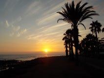 Perfect sunset, Tenerife royalty free stock photo