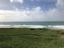 Panoramic views of Pacifica city beach breaks bayarea San francisco CALifornia royalty free stock photography
