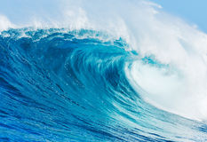 Perfect Surfing Wave. Perfect Surfing Blue Ocean Wave Stock Photography