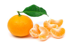 Perfect tangerine fruit. On a white background Stock Images