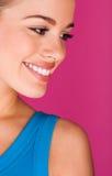 Perfect teeth smiling Stock Photo
