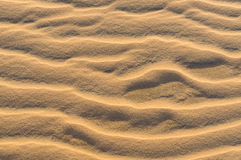 Perfect texture of sand waves. Sand waves pattern in the desert. ground wave royalty free stock images