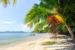 Perfect thai beach with a white sand Stock Image