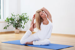 Perfect time for yoga Royalty Free Stock Photos