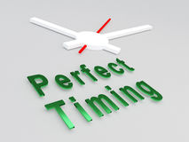 Perfect Timing concept Royalty Free Stock Image