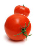 Perfect tomato. On the white. Full isolation, shallow DOF Royalty Free Stock Image