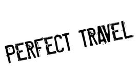 Perfect Travel rubber stamp Stock Images