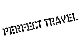Perfect Travel rubber stamp Stock Photo