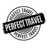 Perfect Travel rubber stamp Royalty Free Stock Photos