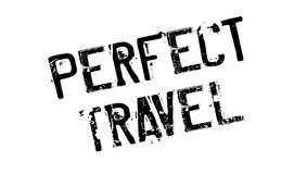 Perfect Travel rubber stamp Stock Image