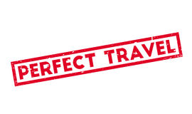 Perfect Travel rubber stamp Royalty Free Stock Photography