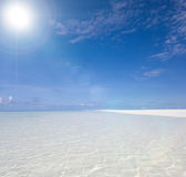 Perfect tropical beach. In the Indian ocean Royalty Free Stock Photography