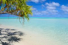 Perfect tropical beach in the middle of Pacific Stock Photography