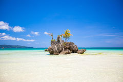 Perfect tropical beach with turquoise water and Royalty Free Stock Images