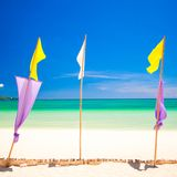 Perfect tropical beach with turquoise water and Royalty Free Stock Photo
