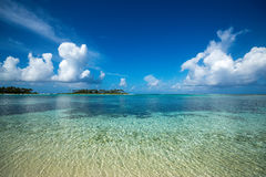 Perfect tropical island paradise beach. royalty free stock images