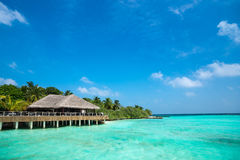 Perfect tropical island paradise beach Maldives Stock Images