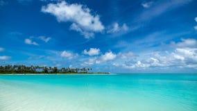 Perfect tropical island paradise beach Maldives Stock Images