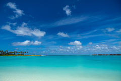 Perfect tropical island paradise beach Maldives Royalty Free Stock Photos