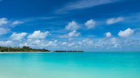Perfect tropical island paradise beach Maldives Royalty Free Stock Image