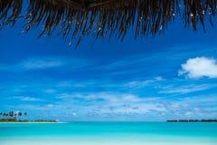 Perfect tropical island paradise beach Maldives Royalty Free Stock Photo