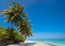 Perfect tropical island paradise beach and old boat Stock Images