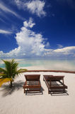 Perfect tropical island relaxation. Royalty Free Stock Photography