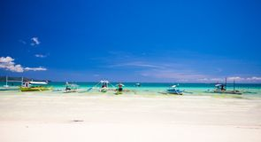 Perfect tropical sandy beach with turquoise water Stock Photography