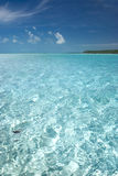 Perfect Tropical Water. Tropical ocean water in the Bahamas royalty free stock photo