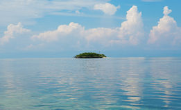 Perfect tropical white sand island Royalty Free Stock Image