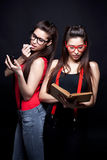 Perfect Twins - Beautiful And Smart Stock Photography